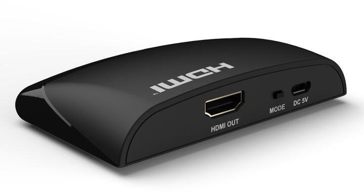 PremiumCord Wireless HDMI Adapter pro rozlišení FULL HD 1080p, MIRACAST,DLNA