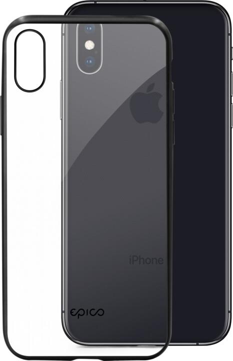 EPICO matt bright pružný plastový kryt pro iPhone XS Max, space grey