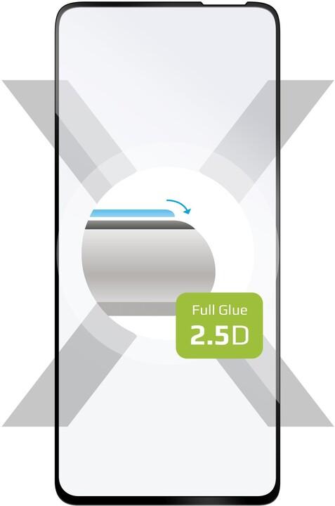 FIXED ochranné tvrzené sklo pro Realme 7, Full-Cover, 2.5D, černá