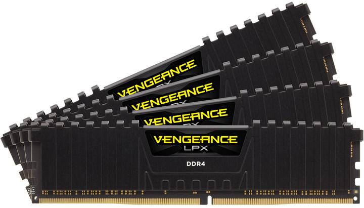 Corsair Vengeance LPX 32GB (4x8GB) DDR4 2400 CL14, černá