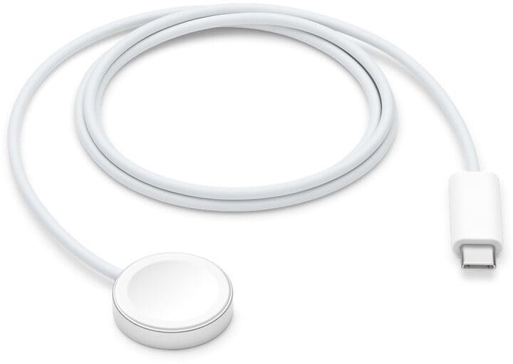 Apple magnetický rychlonabíjecí kabel k Apple Watch, USB-C, 1m, bílá