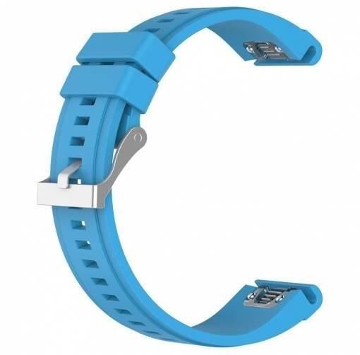 ESES silikonový řemínek pro Garmin Fenix 3/5X/5X Plus/5X Sapphire/3HR, modrá