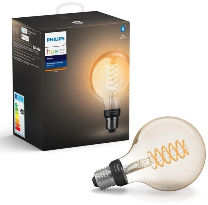Philips Hue žárovka LED Filament E27 G93 7W 550lm 2100K