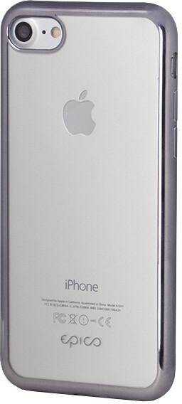EPICO pružný plastový kryt pro iPhone 7 BRIGHT - space gray