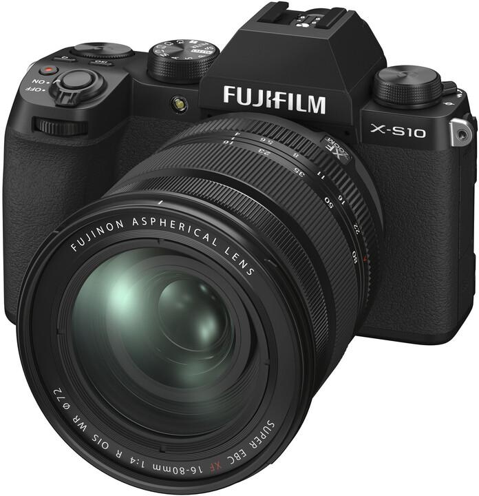 Fujifilm X-S10 + XF16-80mm, černá