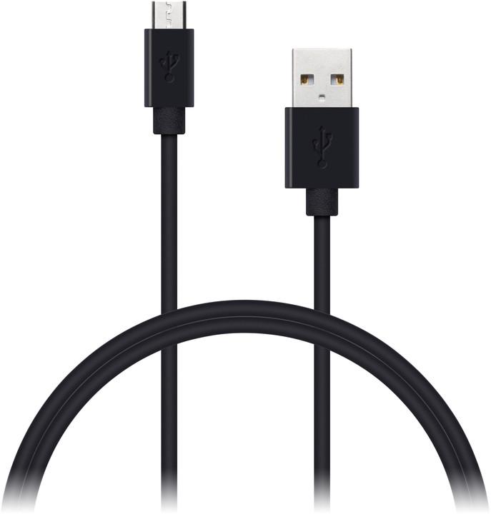 CONNECT IT Wirez micro USB USB, 2m, černá