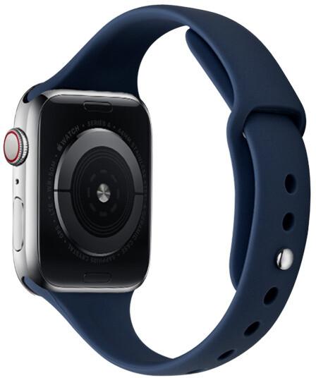MAX silikonový řemínek MAS34 pro Apple Watch, 42/44mm, tmavě modrá