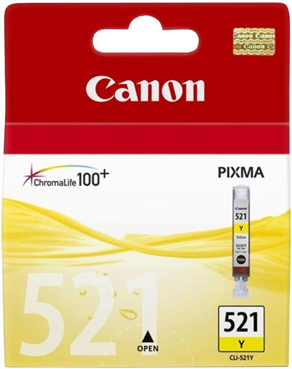 Canon CLI-521 Y, žlutá