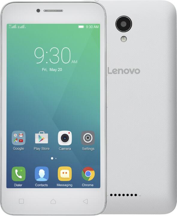 Lenovo A Plus - 8GB, Dual Sim, bílá