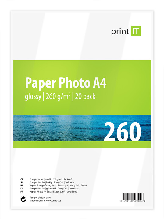 PRINT IT Paper Photo A4 260 g/m2 Glossy 20ks