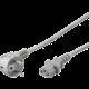 PremiumCord kabel síťový 230V k počítači 2m, šedá
