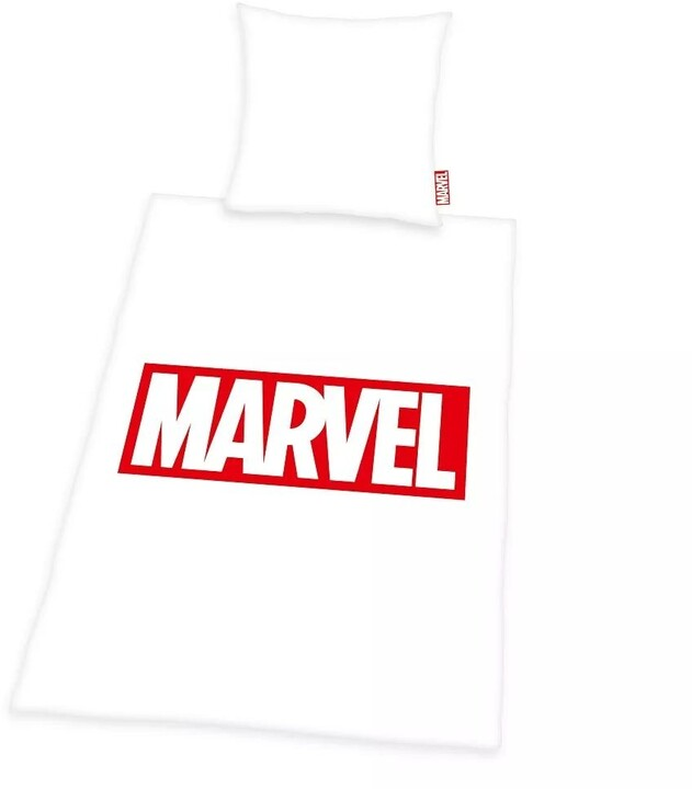Povlečení Marvel - Logo (bílé)