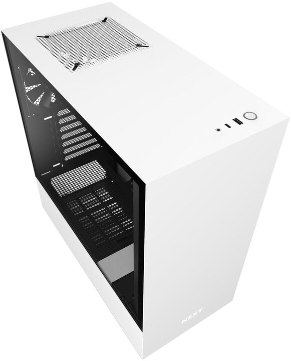 NZXT H510, okno, bílá