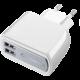 CellularLine síťová nabíječka s 2 x USB konektorem, 15W/3.1A, bílá