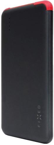 FIXED powerbanka Zen Slim 5000 s microUSB kabelem a adaptéry USB Type-C + Lightning, 5000 mAh, černá