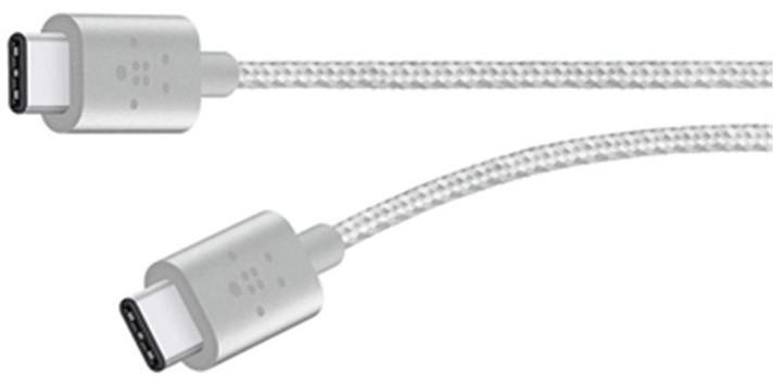 Belkin MIXIT kabel USB-C to USB-C,1.8m, stříbrný