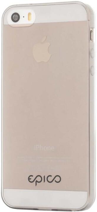 EPICO Plastový kryt pro iPhone 5/5S/SE TWIGGY GLOSS - bílý transparentní