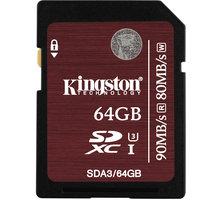Kingston SDXC 64GB Class 10 UHS-I U3 SDA3/64GB