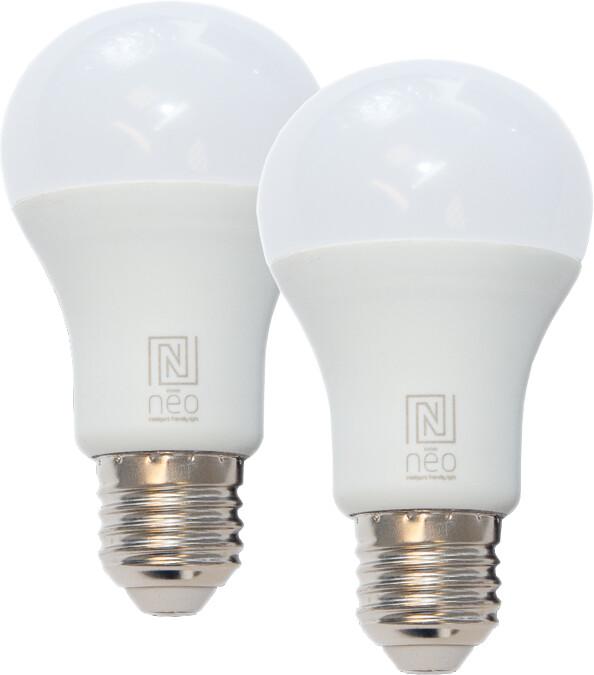 IMMAX NEO Smart sada 2x žárovka LED E27 9W barevná i teplá bílá, stmívatelná, Zigbee 3.0