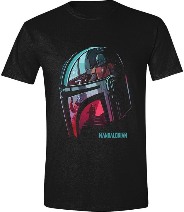 Tričko Star Wars: The Mandalorian - Helmet Reflection (XXL)
