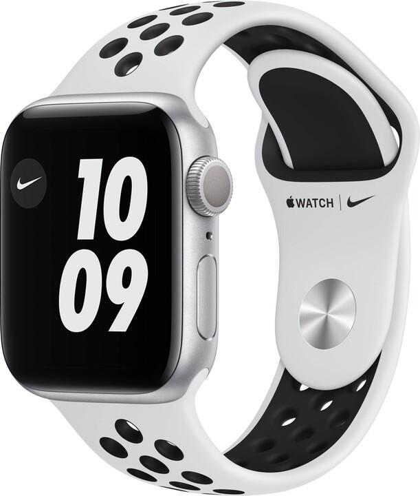 Apple Watch Nike Series 6, 40mm, Silver, Pure Platinum/Black Nike Sport Band