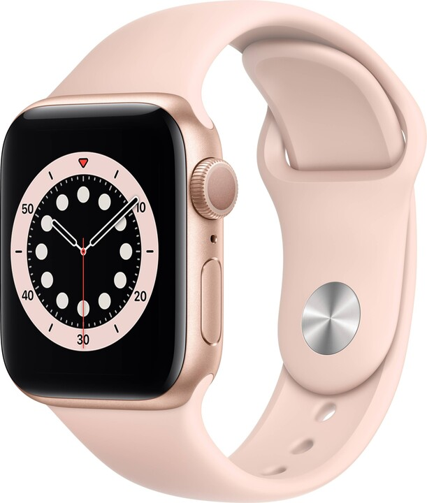Apple Watch Series 6, 40mm, Gold, Pink Sand Sport Band
