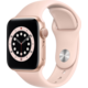 Apple Watch Series 6, 40mm, Gold, Pink Sand Sport Band O2 TV Sport Pack na 3 měsíce (max. 1x na objednávku)
