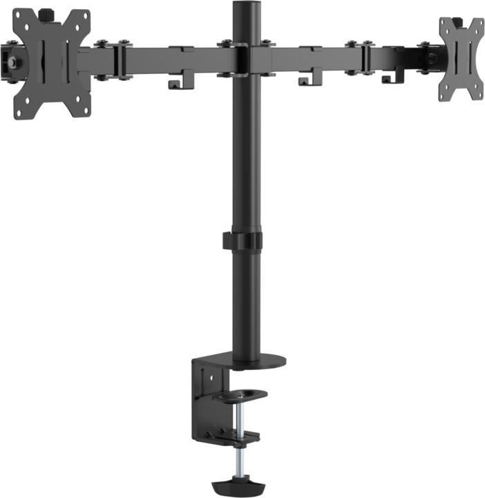 """VISION stolní držák pro monitor 13-27"""", dvě ramena, černá"""
