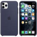 Apple silikonový kryt na iPhone 11 Pro Max, půlnočně modrá