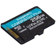 Kingston Micro SDXC Canvas Go! Plus 256GB 170MB/s UHS-I U3 + adaptér