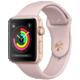 Apple Watch series 3 38mm pouzdro zlatá/pískově růžový řemínek  + Voucher až na 3 měsíce HBO GO jako dárek (max 1 ks na objednávku)