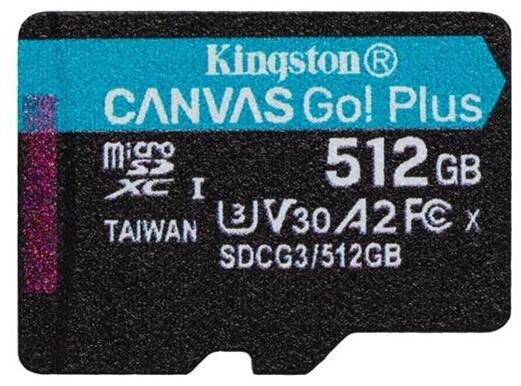 Kingston Micro SDXC Canvas Go! Plus 512GB 170MB/s UHS-I U3 + adaptér