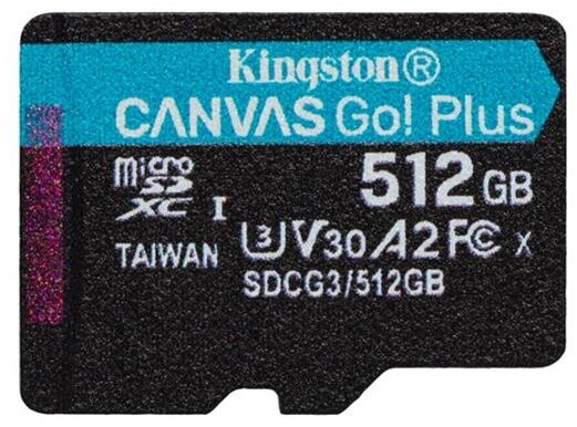 Kingston Micro SDXC Canvas Go! Plus 512GB 170MB/s UHS-I U3 + adaptér