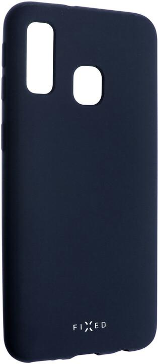 FIXED zadní pogumovaný kryt Story pro Samsung Galaxy A40, modrá