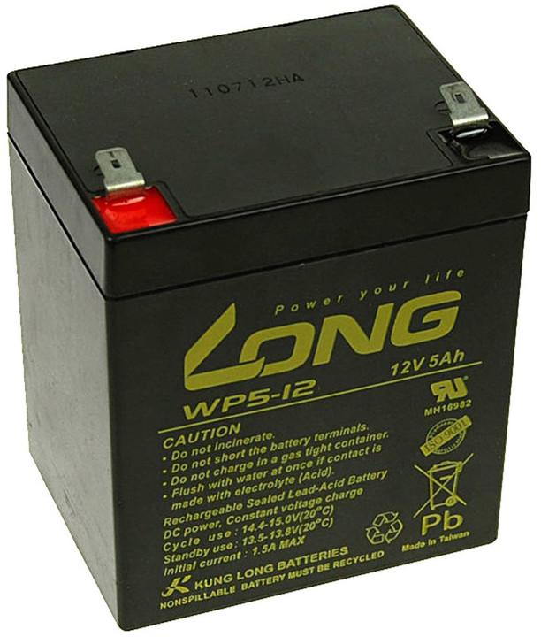 Avacom baterie Long 12V/5Ah, olověný akumulátor F2