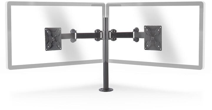 """Nedis ergonomický držák pro 2 monitory 14-24"""", černá"""
