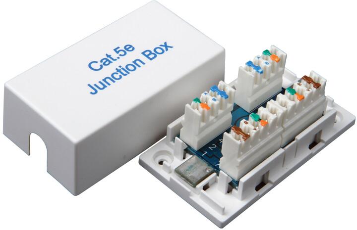Solarix Spojovací box CAT5E UTP 8p8c LSA+/Krone KRJ45-VEB5