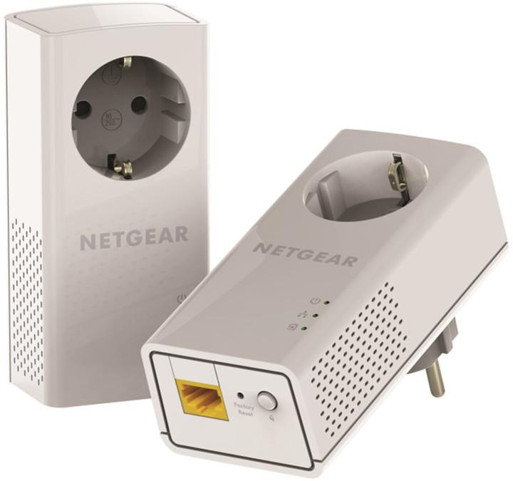 NETGEAR Powerline 1200Mbps 2PT GbE Adapters Bundel (PLP1200)