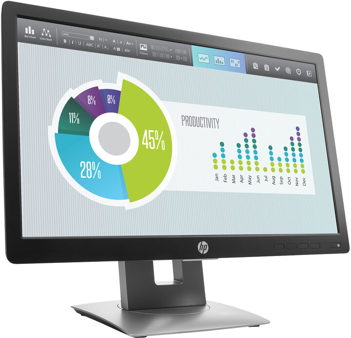 "HP EliteDisplay E202 - LED monitor 20"""