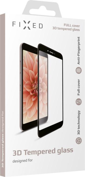 FIXED ochranné tvrzené sklo 3D Full-Cover pro Huawei Y7 (2019), s lepením přes celý displej, černá