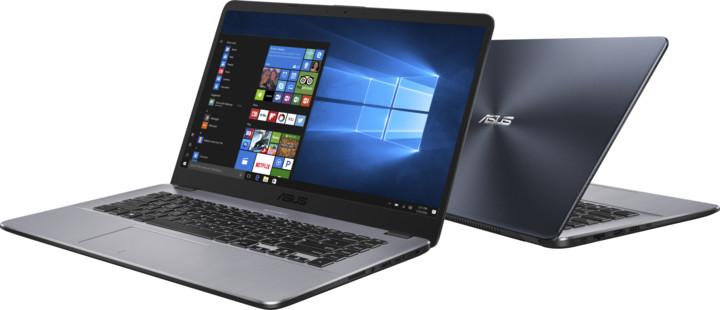 ASUS VivoBook 15 X505BA, šedá