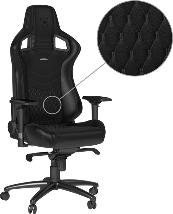 Noblechairs EPIC Real Leather, černá
