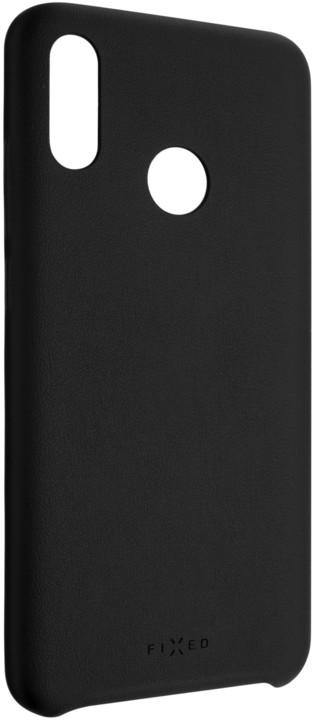 FIXED zadní kryt Tale pro Huawei P Smart (2019), PU kůže, černá