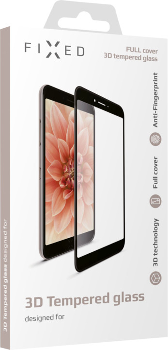 FIXED ochranné tvrzené sklo 3D Full-Cover pro Samsung Galaxy A6+, černé