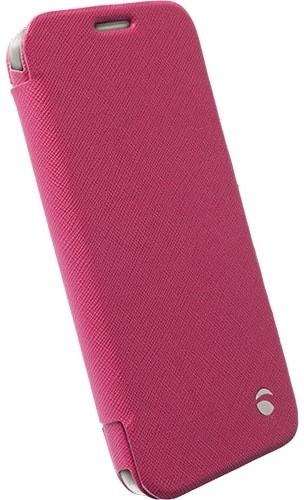 Krusell flipové pouzdro MALMÖ FlipWallet pro Samsung Galaxy S6/S6 edge, růžová