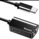 Baseus adaptér USB-C/USB-C + 3.5mm jack, černá