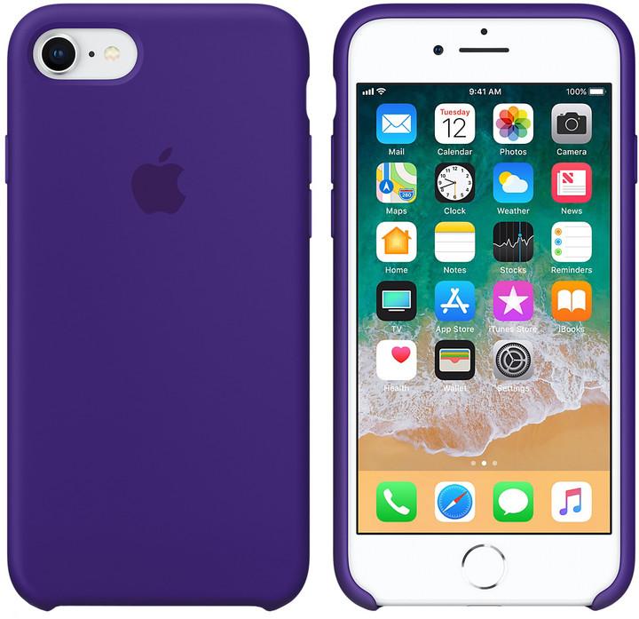 Apple silikonový kryt na iPhone 8/7, tmavě fialová