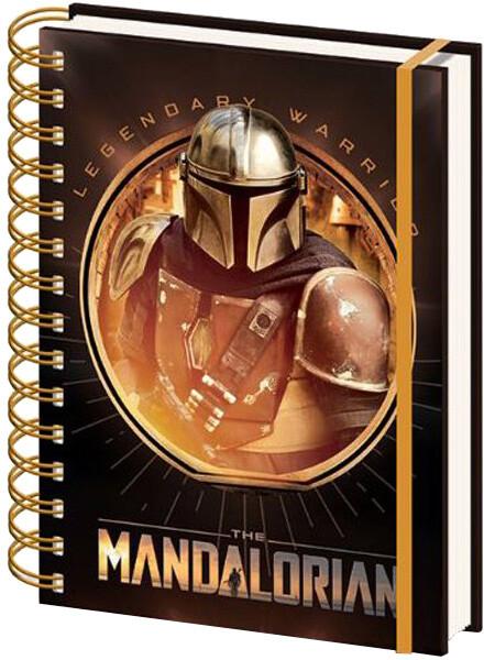 Zápisník Star Wars - The Mandalorian, kroužková vazba (A5)