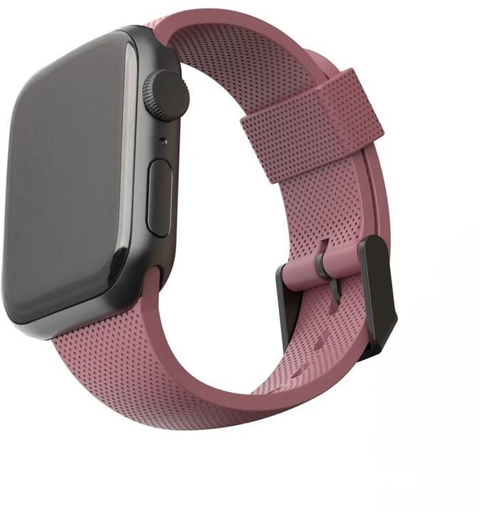 U by UAG silikonový řemínek pro Apple Watch, 38/40mm, růžová