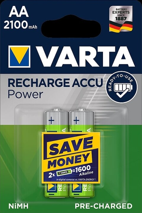 VARTA nabíjecí baterie Power AA 2100 mAh, 2ks